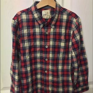 Peek brand boys plaid button shirt XL 10